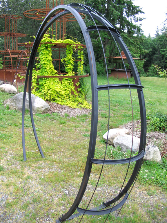 Metal Garden Arch Photograph moonbeam metal garden arch