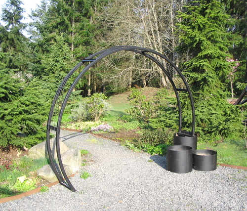 sunray metal garden arch planter