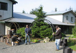 installing the sunray metal garden arch